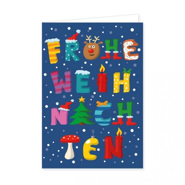 """Doppelkarten X-Mas """"Frohe Weihnachten"""""""