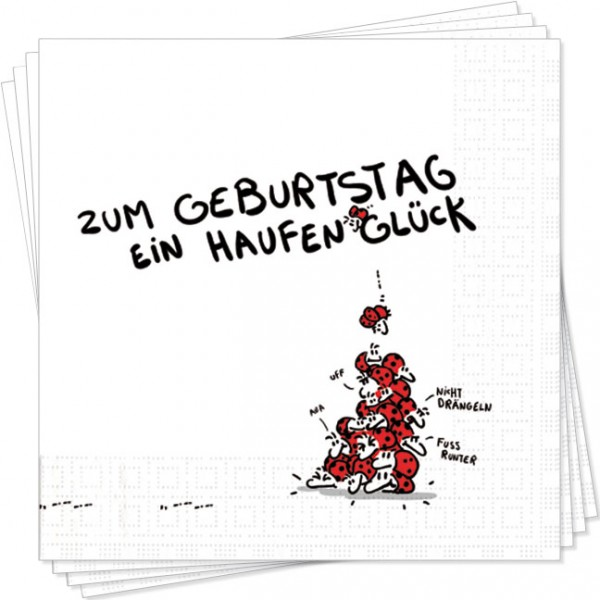 Servietten 'Ein Haufen Glück' von Alexander Holzach