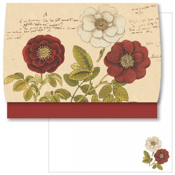 Schreib-Set 'Rosen aus Conrad Gesner Historia Plantarum'