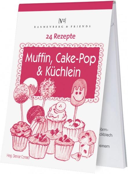 """Rezeptblöckchen """"24 Rezepte - Muffiin, Cake-Pop und Küchlein """""""