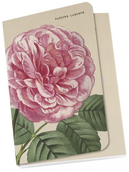 """Taschennotizblöckchen """"Rosa """"Alte Gartenrosen"""""""""""