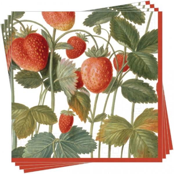 Servietten 'Erdbeeren aus dem Nassau Florilegium'
