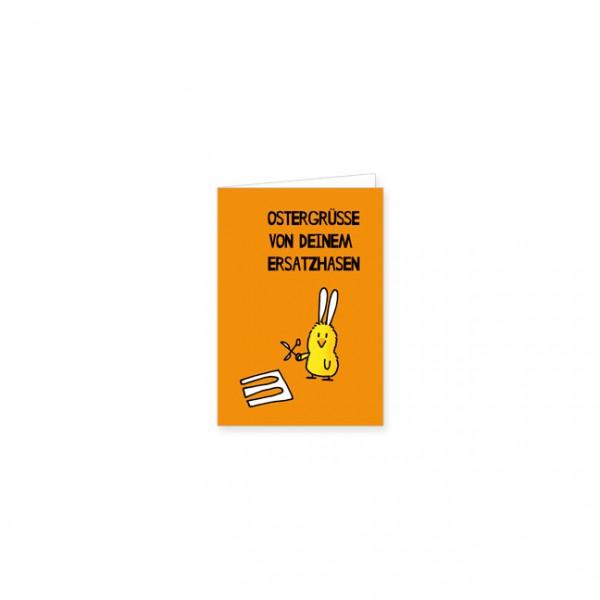 "Mini-Doppelkarte ""Ersatzhase"""