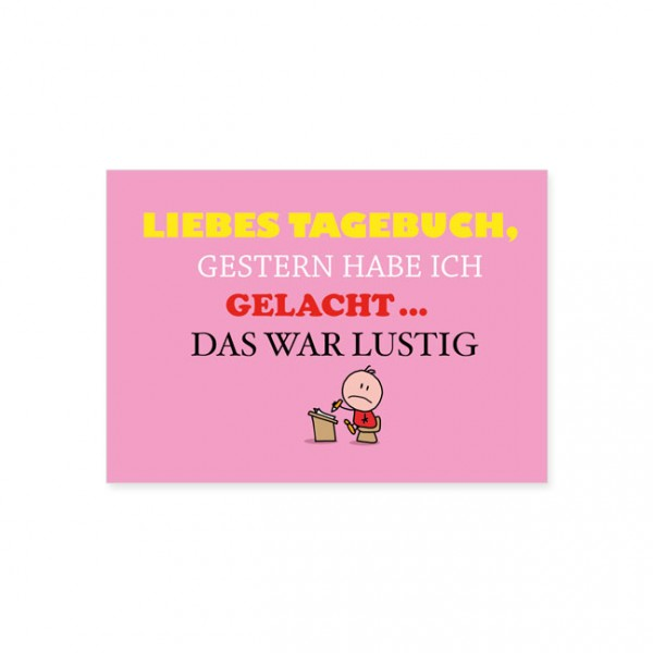"""Postkarte """" Tagebuch """""""