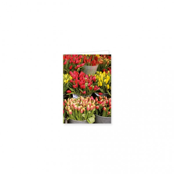 """Mini-Doppelkarte """"Tulpenmarkt"""""""