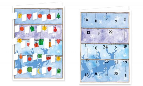 Adventskalenderdoppelkarte 'Weihnachtsfenster'