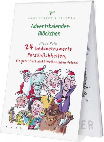 Adventskalenderblöckchen '24 bedauernswerte Persönlichkeiten ' von Klaus Puth -RSBW 010