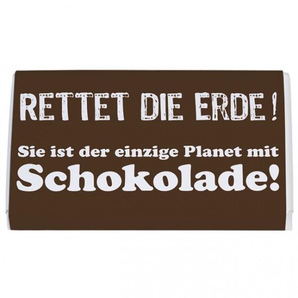 Schokoladentäfelchen 'Rettet die Erde'