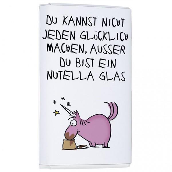 Schokoladentäfelchen 'Glücklich machen' von Alexander Holzach