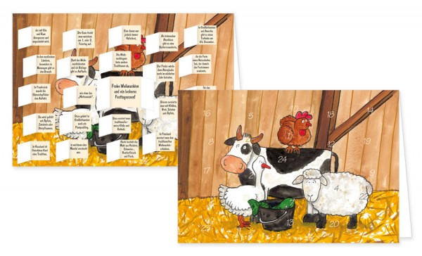 Adventskalenderdoppelkarte 'Festessen'