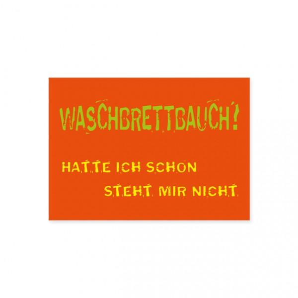 """Postkarte """"Waschbrettbauch"""""""