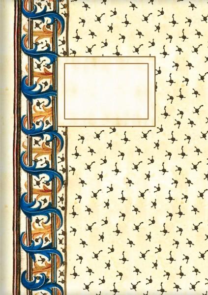 Kladden A6 'David und Bathsheba', Detail. Buchmalerei der Renaissance'