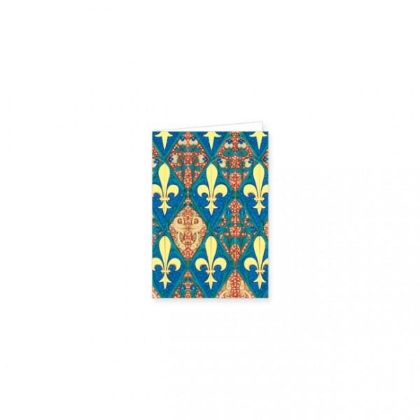 """Mini-Doppelkarten Gold """"Stundenbuch Ludwig von Orleans"""""""