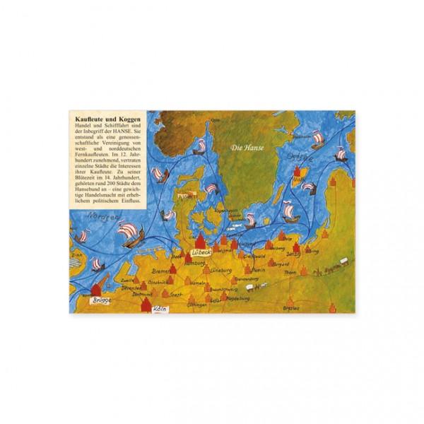 """Postkarte """"Die Geschichte der Hanse"""""""
