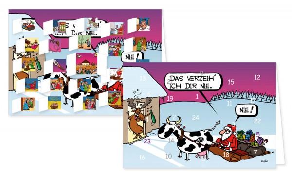 Adventskalenderdoppelkarte 'Das verzeih ich dir nie'