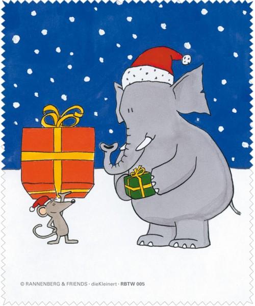 Frohe Weihnachten F303274r Kunden.X Mas Brillenputztuch Elefant Maus