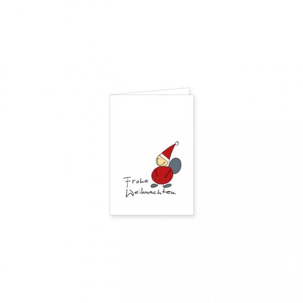"""Mini-Doppelkarte X-Mas """"Frohe Weihnachten mit Weihnachtsmann"""""""