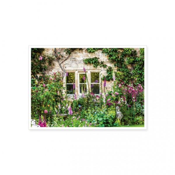 """Postkarte """"Ein englischer Bauerngarten"""""""