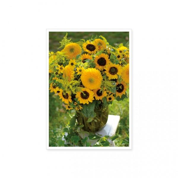 """Postkarte """"Sonnenblumenstrauß"""""""