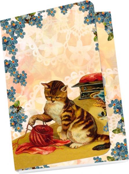 Taschennotizblöckchen 'Nostalgische Katzen'