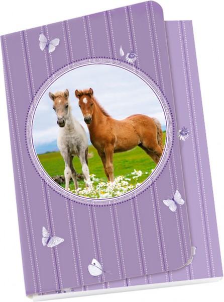 Taschennotizblöckchen 'Zwei Fohlen'