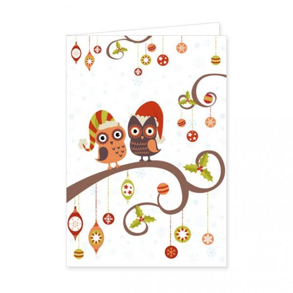 "Doppelkarten X-Mas ""Weihnachtseulen"""