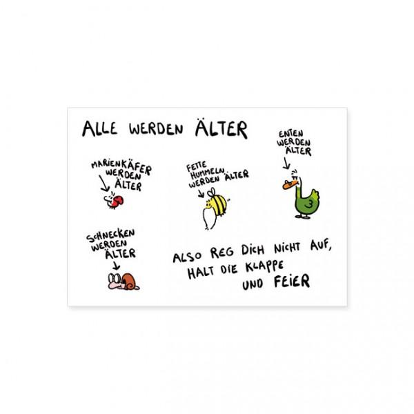 """Postkarte """"Alle werden älter"""""""