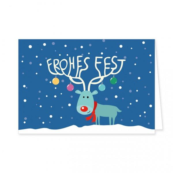 """Doppelkarten X-Mas """"Frohes Fest"""""""
