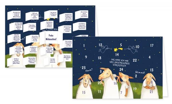 Adventskalenderdoppelkarte 'Spektakel'