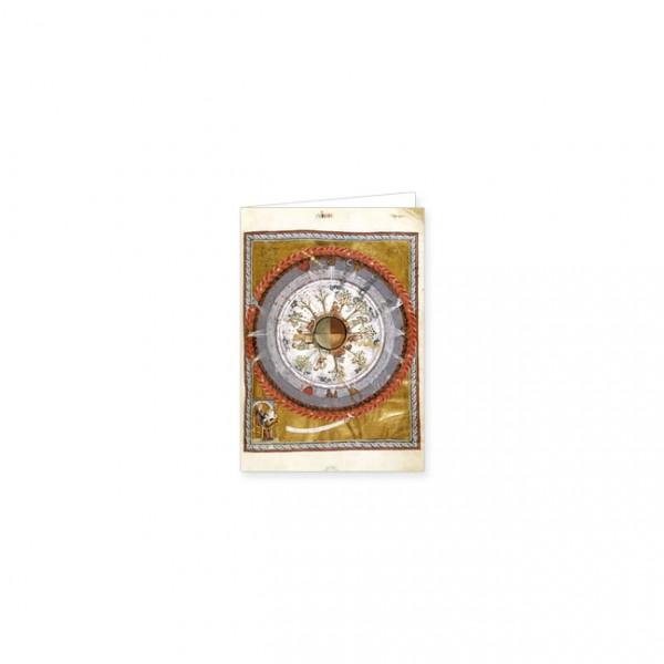 """Mini-Doppelkarten Gold """"Hildegard von Bingen und die Jahreszeiten"""""""