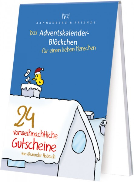 Adventskalenderblöckchen '24 vorweihnachtliche Gutscheine' von Alexander Holzach