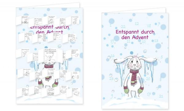 Adventskalenderdoppelkarte 'Entspannt durch den Advent' von Judith Ganter