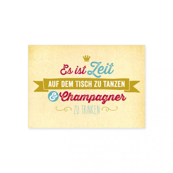 "Postkarte ""Champagner"""