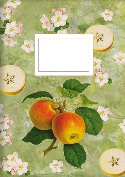 """gr. Kladden A5 """"Die Apfelgräfin (grün)"""""""