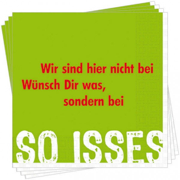 Servietten 'So isses'
