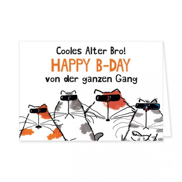 """Doppelkarte """"Catzz - Cooles Alter Bro"""""""