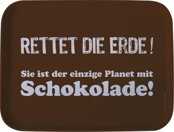 Tablett 'Rettet die Erde'