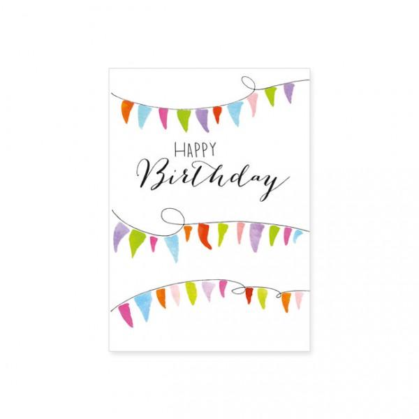 "Postkarte ""Happy Birthday - Wimpel"""