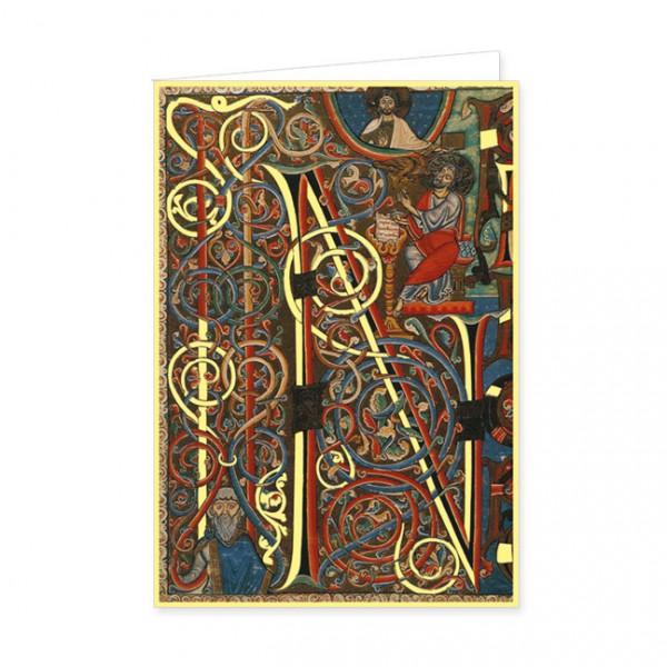 """Doppelkarte Gold """"Bibel aus Arnstein"""""""