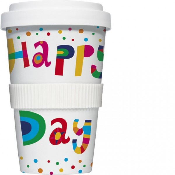 Coffee to go 'Happy Day' von Nastja Holtfreter