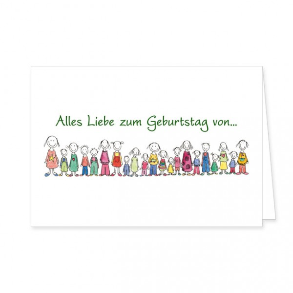 """Doppelkarte """"Alles Liebe zum Geburtstag von …"""""""
