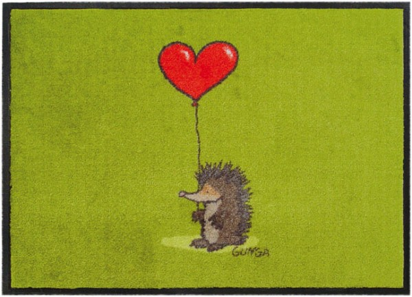 Fußmatte 'Igel mit Herz'