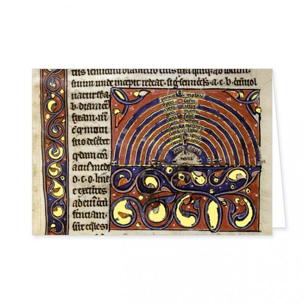 """Doppelkarte Gold """"Planeten des Sonnensystems"""""""