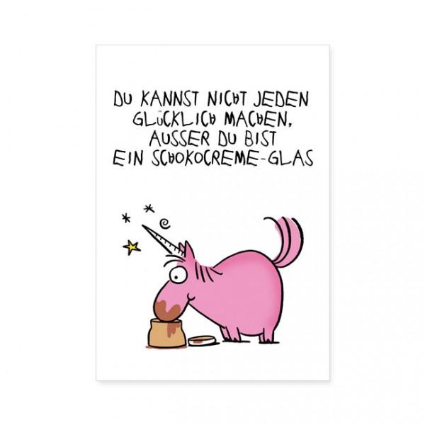 "Postkarten Large ""Schokocreme-Glas"""