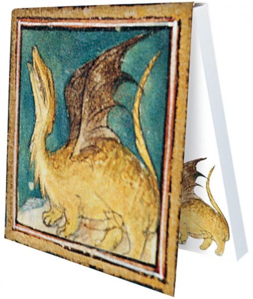 Klebezettel 'Drache aus dem Bestiarium' aus Le Livre des Proprietes des Choses