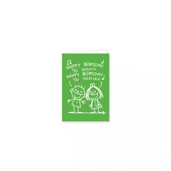 "Mini-Doppelkarte ""Häppy Börsday"""