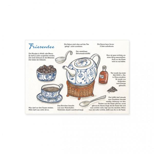 "Postkarte ""Friesentee"""