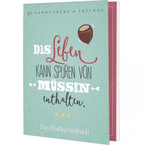 Postkartenbuch 'Das Leben kann Spuren von Müssen enthalten' von Frielinghaus-Design