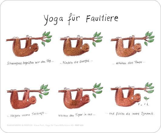"""Maus-Pad """"Yoga für Faultiere"""""""