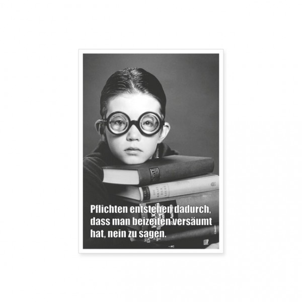 """Postkarte """"Pflichten entstehen"""""""